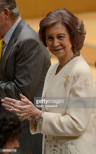 Queen Sofia of Spain attends the '2014 Judiciary Degree' promotion ceremony at the L'Auditori on May 21 2014 in Barcelona Spain