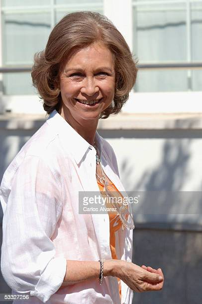 Queen Sofia of Spain attends the 24th Copa del Rey Sailing Trophy on August 5 2005 in Mallorca Spain