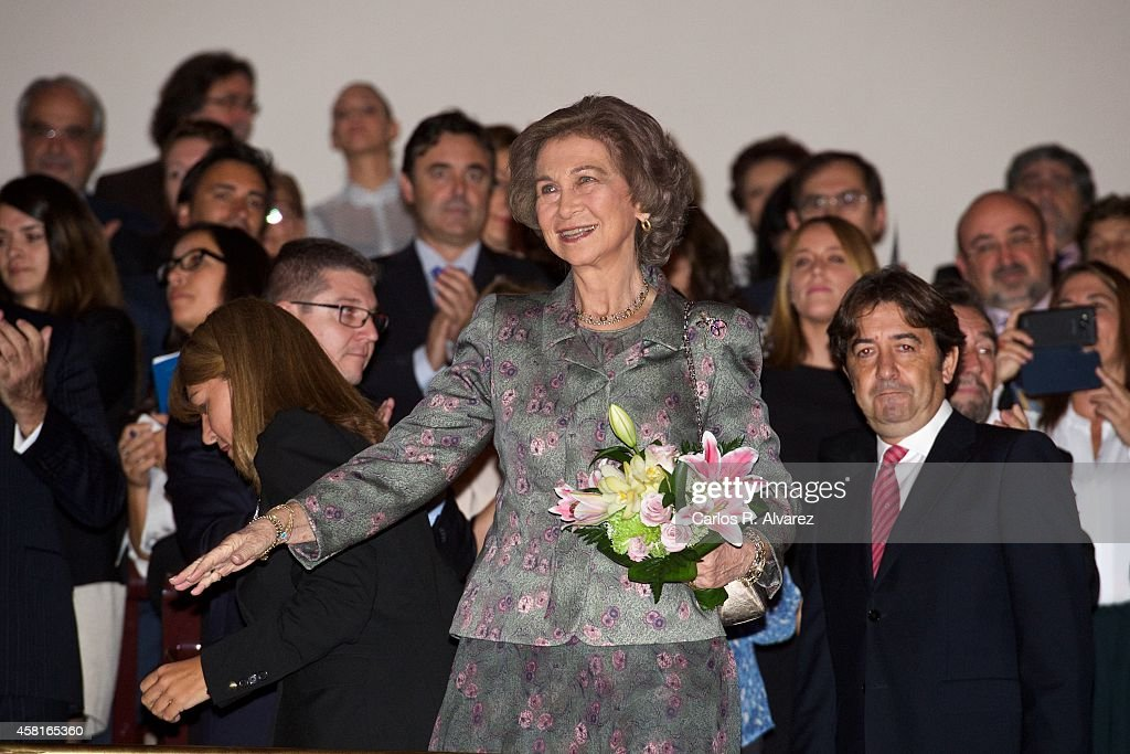 Queen Sofia of Spain attends the 50th anniversary concert of FEAPS at the National Auditorium on October 31 2014 in Madrid Spain