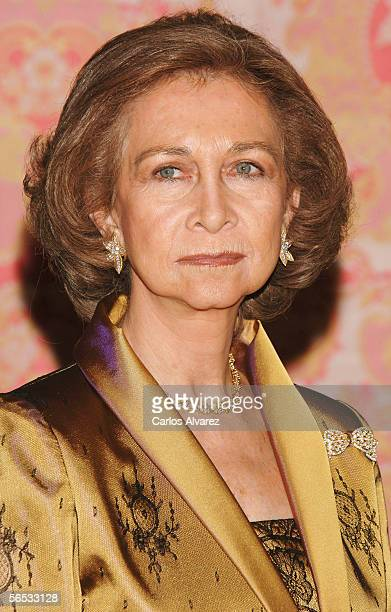Queen Sofia of Spain attends the annual 'Pascua Militar' day at the Palacio Real on January 6 2006 in Madrid Spain The day has been celebrated in...