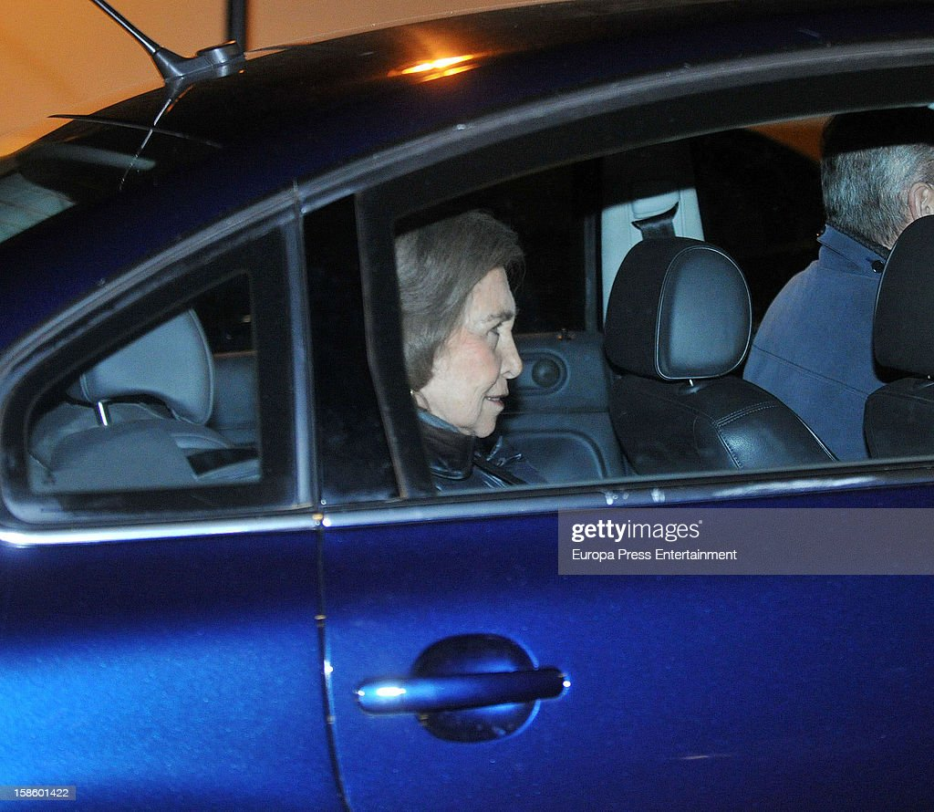 Queen Sofia of Spain attends the birthday party of her Grandson Pablo Urdangarin, who is the son of Princess Cristina and Inaki Urdangarin on December 6, 2012 in Barcelona, Spain.