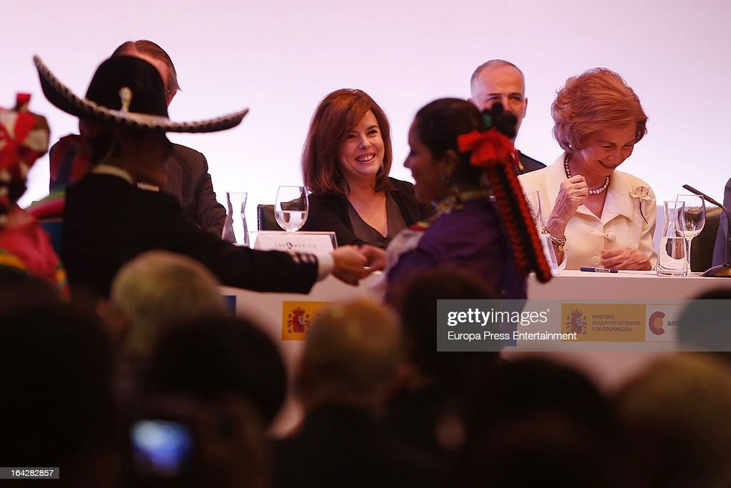 Queen Sofia of Spain attends the International Journalist Awards 'King of Spain' and Journalist Award 'Don Quixote' on March 21, 2013 in Madrid, Spain.