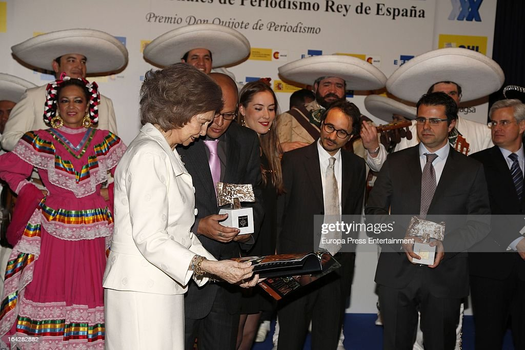 <a gi-track='captionPersonalityLinkClicked' href=/galleries/search?phrase=Queen+Sofia+of+Spain&family=editorial&specificpeople=160333 ng-click='$event.stopPropagation()'>Queen Sofia of Spain</a> attends the International Journalist Awards 'King of Spain' and Journalist Award 'Don Quixote' on March 21, 2013 in Madrid, Spain.