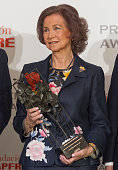 Queen Sofia of Spain attends the 'Mapfre Foundation' awards at El Casino de Madrid on June 6 2016 in Madrid Spain