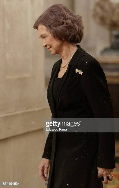Queen Sofia of Spain attends the 'Reina Sofia Iberoamerican Poetry' Award 2017 at Royal Palace on November 14 2017 in Madrid Spain