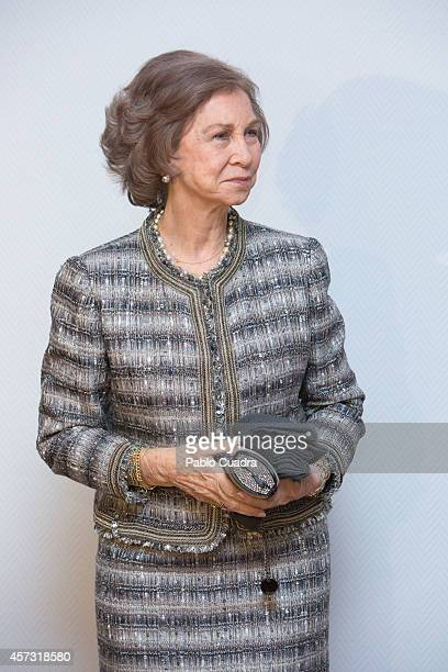 Queen Sofia of Spain attends the 'Reina Sofia Musical Composition' awards on October 16 2014 in Madrid Spain