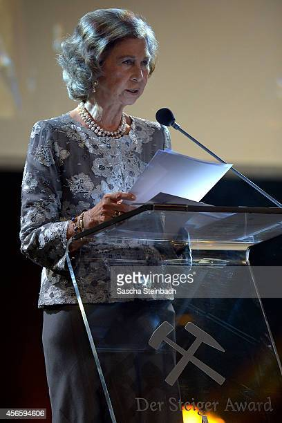 Queen Sofia of Spain attends the 'Steiger Award 2014' at Heinrichshuette on October 3 2014 in Hattingen Germany