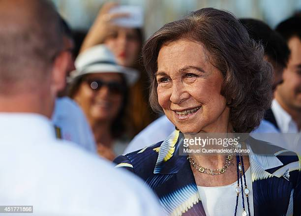 Queen Sofia of Spain attends the XVI Trofeo SM La Reina Ceremony Awards at Real Club Nautico de Valencia on July 6 2014 in Valencia Spain