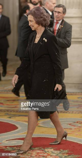 Queen Sofia of Spain attens the 'Reina Sofia Iberoamerican Poetry' Award 2017 at Royal Palace on November 14 2017 in Madrid Spain