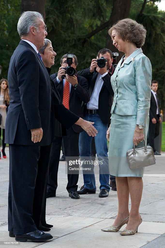 Queen Sofia of Spain Inaugurates 'Velazquez Y La Familia de Felipe IV' Exhibition at Prado Museum