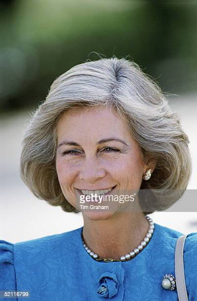 Queen Sofia Of Spain Hosting A British Royal Visit To Spain