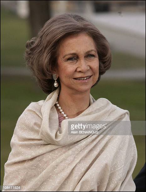 Queen Sofia of Spain in Stockholm Sweden on April 29 2006