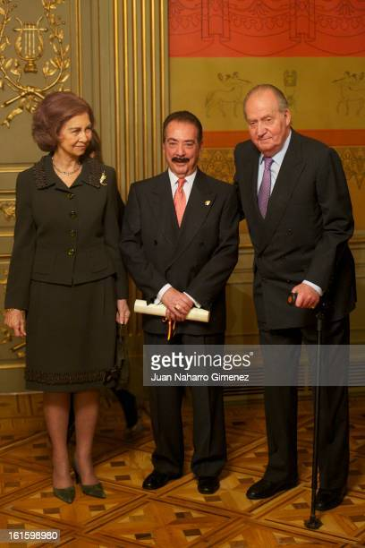 Queen Sofia of Spain Juan Diez Nicolas and King Juan Carlos of Spain attend 'Sociology and Science Politics 2012 Awards' at Zurbano Palace on...