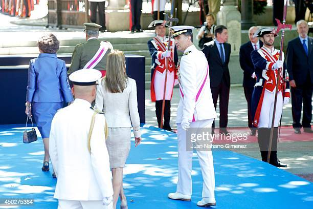 Queen Sofia of Spain King Juan Carlos of Spain Princess Letizia of Spain and Prince Felipe of Spain attend 'Tribute to Those Who Gave Their Lives For...