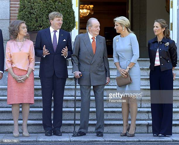 Queen Sofia of Spain King WillemAlexander of The Netherlands King Juan Carlos of Spain Queen Maxima of The Netherlands and Princess Elena of Spain...