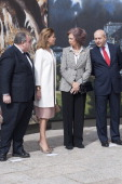 Queen Sofia of Spain Maria Dolores de Cospedal and Jose Ignacio Wert attend 'El griego de Toledo' Exhibition Opening at Museo de Santacruz on March...