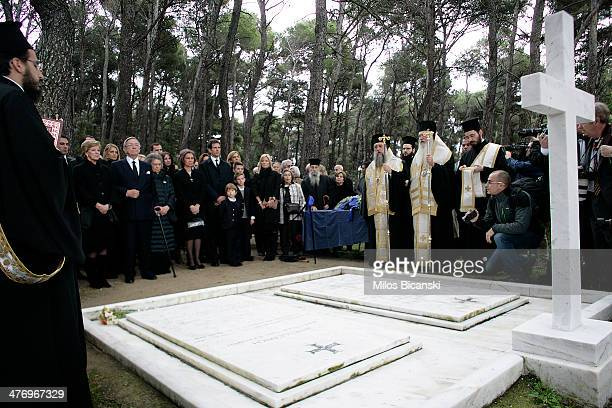 Queen Sofia of Spain Princess Irene of Greece King Constantine II and his wife Queen Anne Marie of Greece and Pavlos Crown Prince of Greece and...