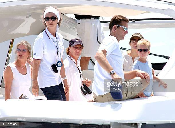 Queen Sofia of Spain Queen Sonia of Norway Inaki Urdangarin Princess Letizia of Spain and Urdangarin's son Pablo Nicolas