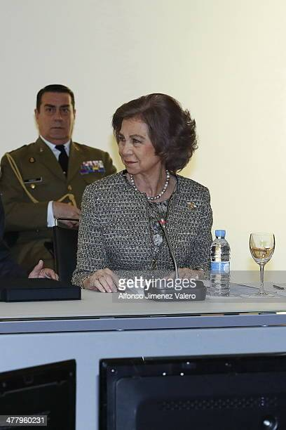 Queen Sofia of Spain Visits Reina Sofia Museum on March 11 2014 in Madrid Spain