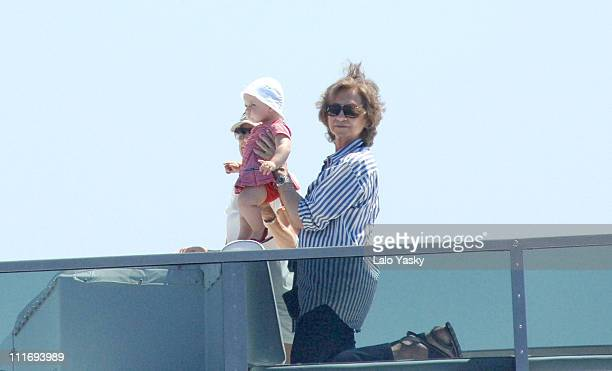 Queen Sofia Princess Letizia and Baby Leonor during Spanish Royals During the First Day of the Copa del Rey Sailing Cup July 31 2006 at Real Club...