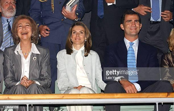 Queen Sofia Princess Letizia and Crown Prince Felipe