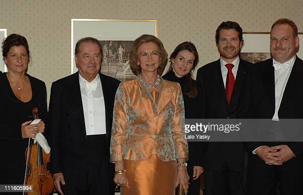Queen Sofia Princess Letizia Cristina and Elena of Spain with the Dresde Philharmonic Orchestra