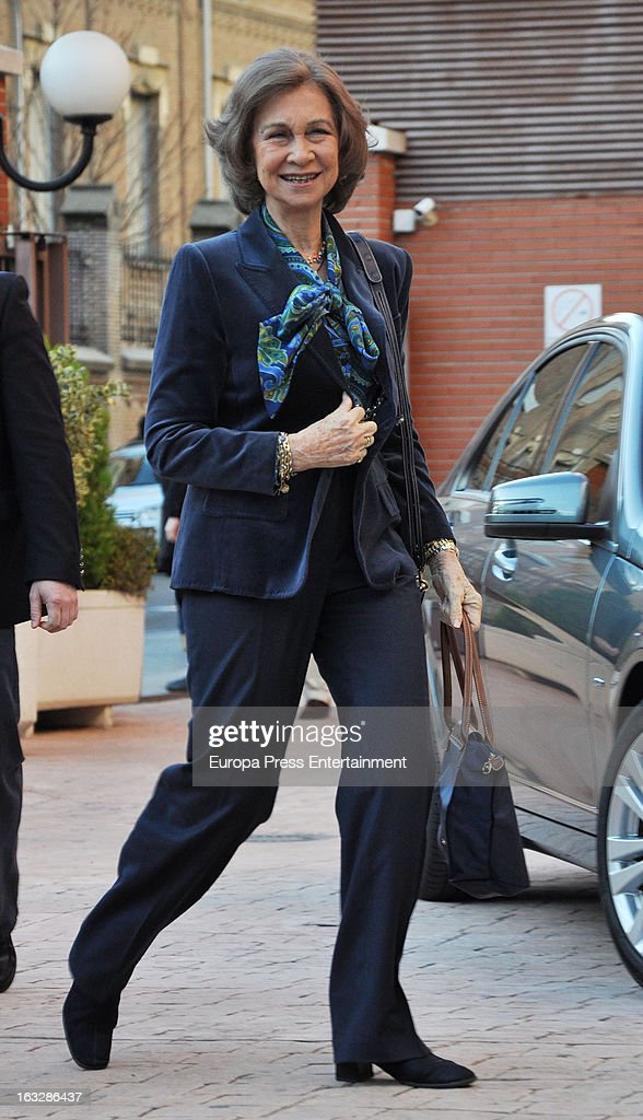 Queen Sofia visits King Juan Carlos of Spain at La Milagrosa Hospital on March 6, 2013 in Madrid, Spain. King Juan Carlos of Spain underwent surgery for a lower back disc hernia yesterday. He also had hip surgery last November. The King has had several other health issues in the past two years, including knee surgery and the removal of a benign lung tumor.