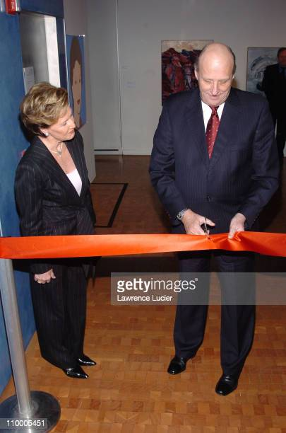 HM Queen Sonja and HM King Harald V of Norway during The King and Queen of Norway Open NORGE Contemporary Landscapes From the Collection of HM Queen...