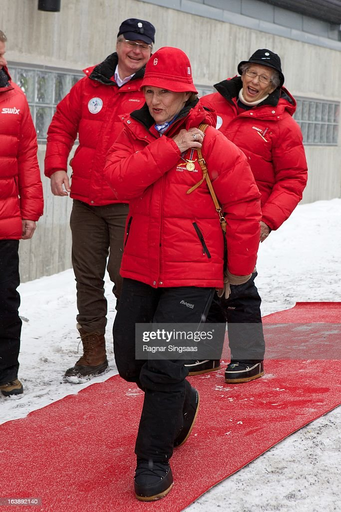 Queen Sonja of Norway attends FIS World Cup Nordic Holmenkollen 2013 on March 17, 2013 in Oslo, Norway.