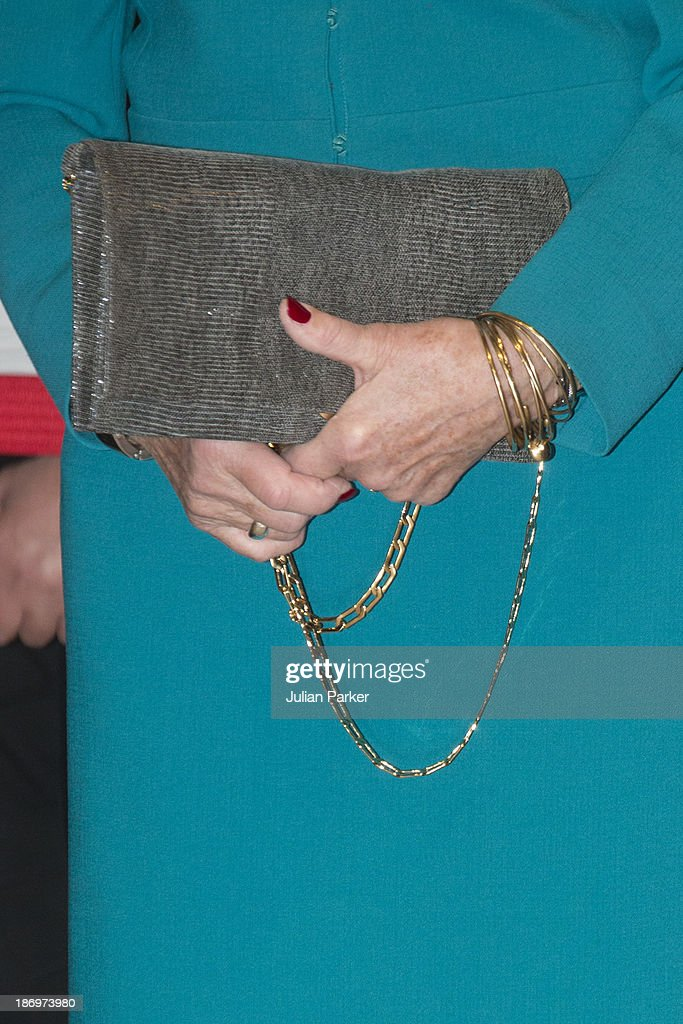 Queen Sonja of Norway ( Handbag Detail ) attends the opening of the Munch/Warhol Exhibition at CerModern,on day one of a Norwegain State visit to Turkey, on November 5, 2013 in Ankara, Turkey.