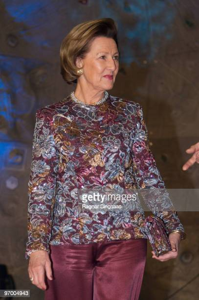 Queen Sonja of Norway attends the Sports Gala in Haakons Hall on January 9 2010 in Lillehammer Norway