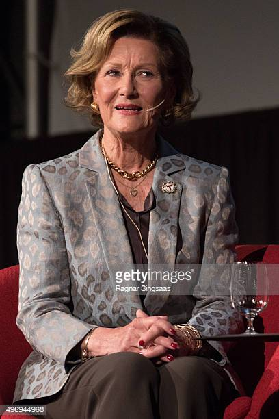 Queen Sonja of Norway attends the TUR Conference on November 13 2015 in Oslo Norway