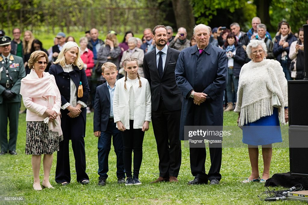 Queen Sonja of Norway Crown Princess MetteMarit of Norway Prince Sverre Magnus of Norway Princess Ingrid Alexandra of Norway Crown Prince Haakon of...