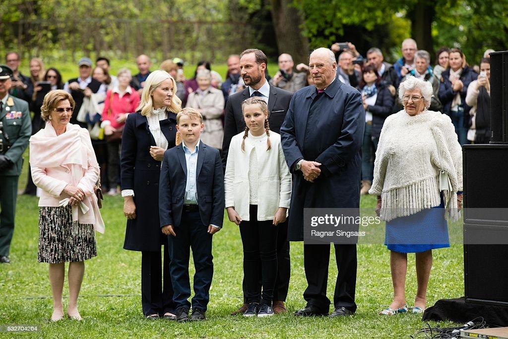 Queen Sonja of Norway Crown Princess MetteMarit of Norway Prince Sverre Magnus of Norway Crown Prince Haakon of Norway Princess Ingrid Alexandra of...