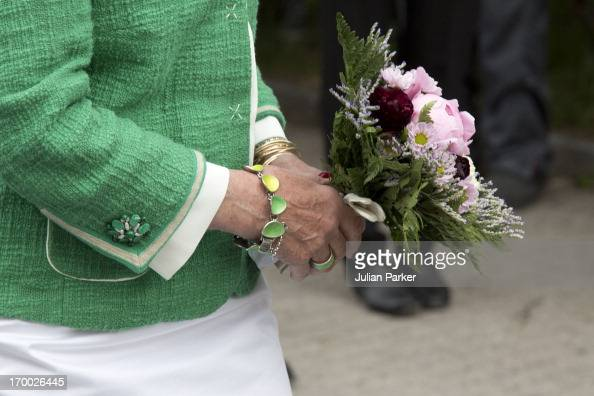 Queen Sonja of Norway on the last day of a three day visit to the county of Sor Trondelag in the municipality of Afjord on June 6 2013 in Afjord...