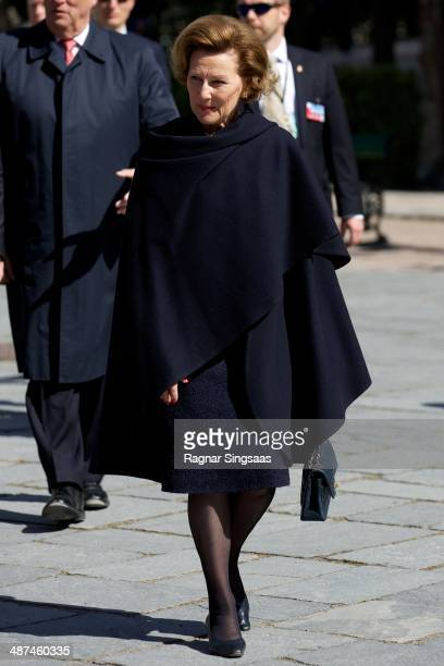 Queen Sonja of Norway visits the Norwegian Museum of Cultural History on April 30 2014 in Oslo Norway