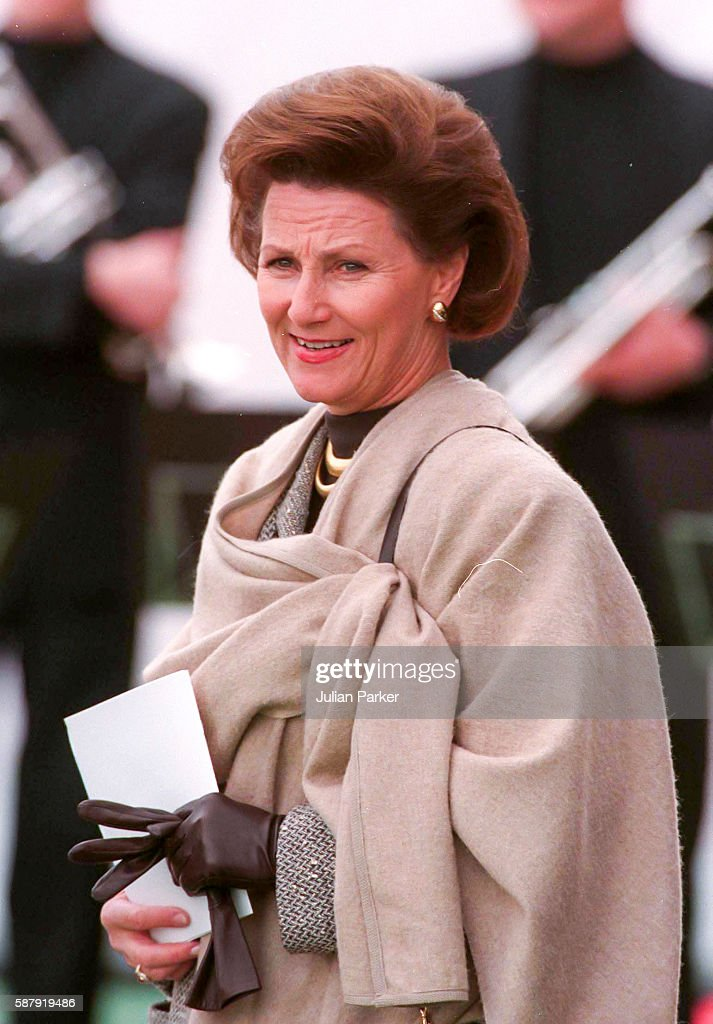 Queen Sonja of Norwayattends a Church Service at Westerkerk and then a trip and Lunch on a Paddle Steamer in Amsterdam as part of Queen Beatrix of...