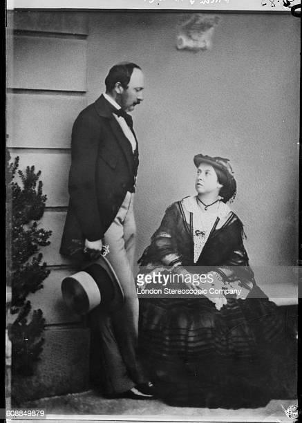 Queen Victoria and her husband Prince Albert 1860