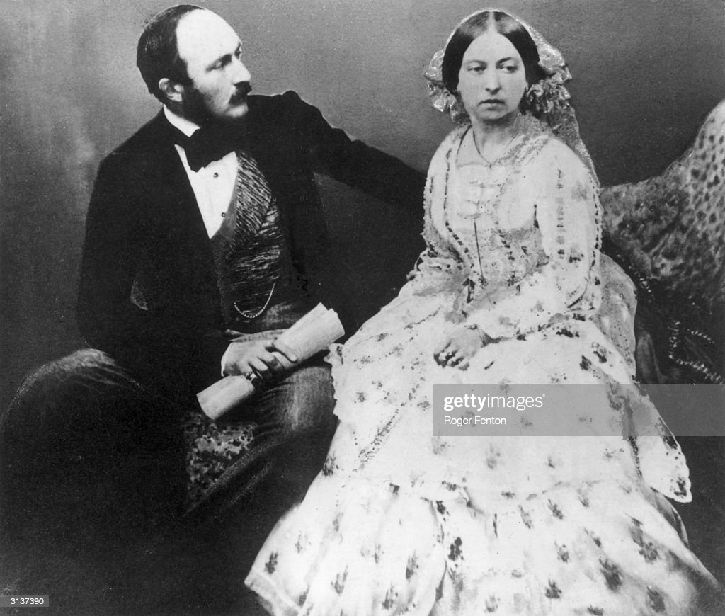 Queen Victoria (1819 - 1901) and <a gi-track='captionPersonalityLinkClicked' href=/galleries/search?phrase=Prince+Albert+-+Husband+of+Queen+Victoria&family=editorial&specificpeople=92392 ng-click='$event.stopPropagation()'>Prince Albert</a> (1819 - 1861), five years after their marriage.