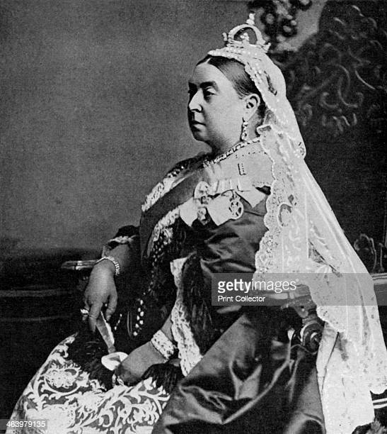 Queen Victoria in ceremonial robes at her Golden Jubilee 1887 A print from 100 Years in Pictures A panorama of History in the Making text by DC...