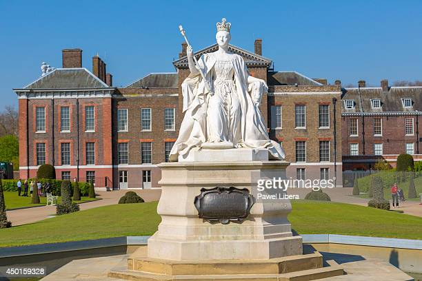 Queen Victoria Memorial at the front of Kensington Palace residence of Duke and Duchess of Cambridge in London