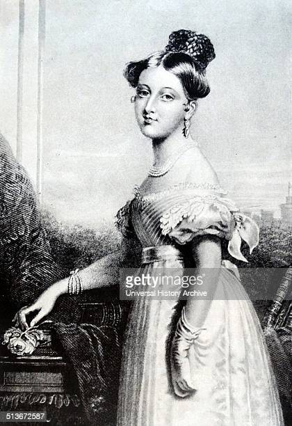 Queen Victoria of Great Britain as a young princess aged sixteen in 1835