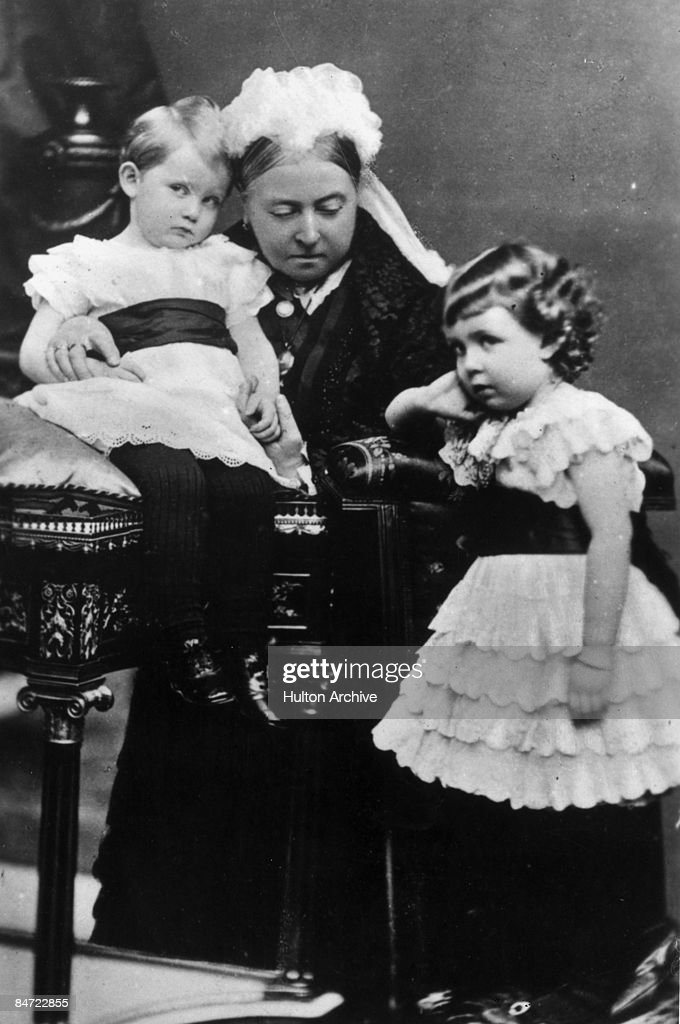 Queen Victoria with two of her grandchildren, 1886.