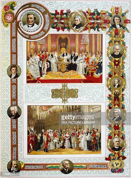 Queen Victoria's Jubilee baptism of the Royal Princess baptism of the Prince of Wales portraits of clergymen and poet laureats Victorian age England...