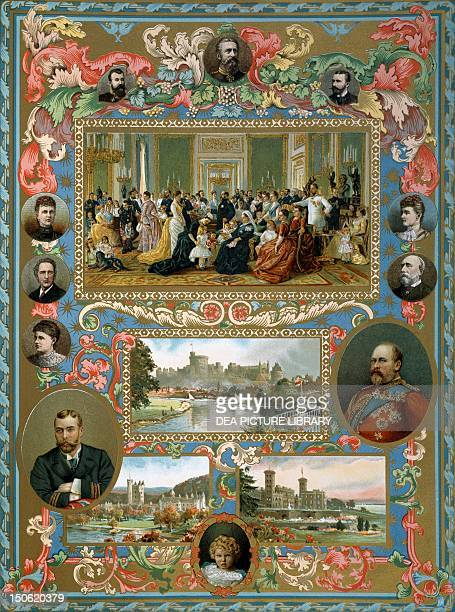 Queen Victoria's Jubilee the family group at Wind Castle the Queen's residence Wind Castle and Balmor Osborne Victorian age England 19th century