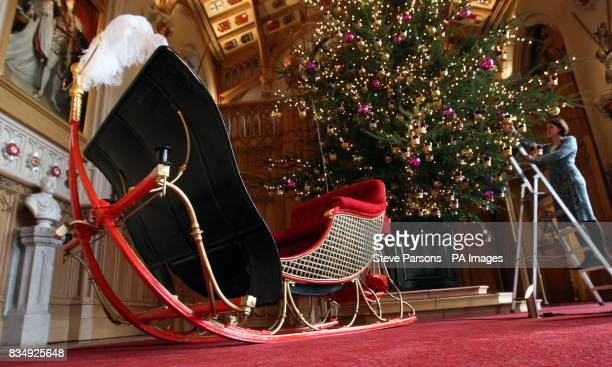 Queen Victoria's Sleigh which is to go on display for the first at Windsor Castle in Berkshire