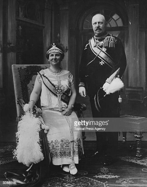 Queen Wilhelmina of the Netherlands with her consort Prince Henry of the Netherlands