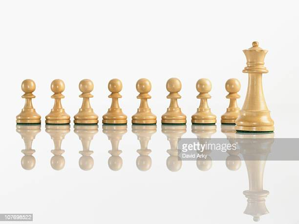 Queen with pawn chess pieces