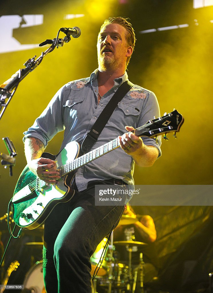 Queens of the Stone Age perform during Pearl Jam Destination Weekend at Alpine Valley Music Theatre on September 3, 2011 in East Troy, Wisconsin.