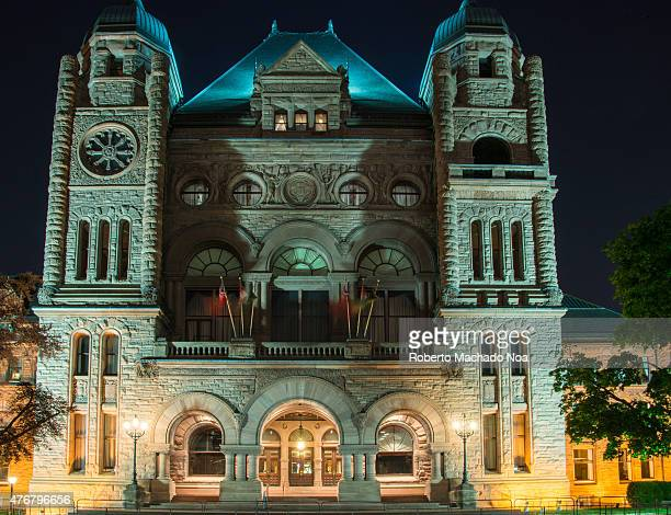 Queen's Park Building seat of the Ontario Legislative Building with beautiful night lighting The Ontario Legislative Building is a structure that...